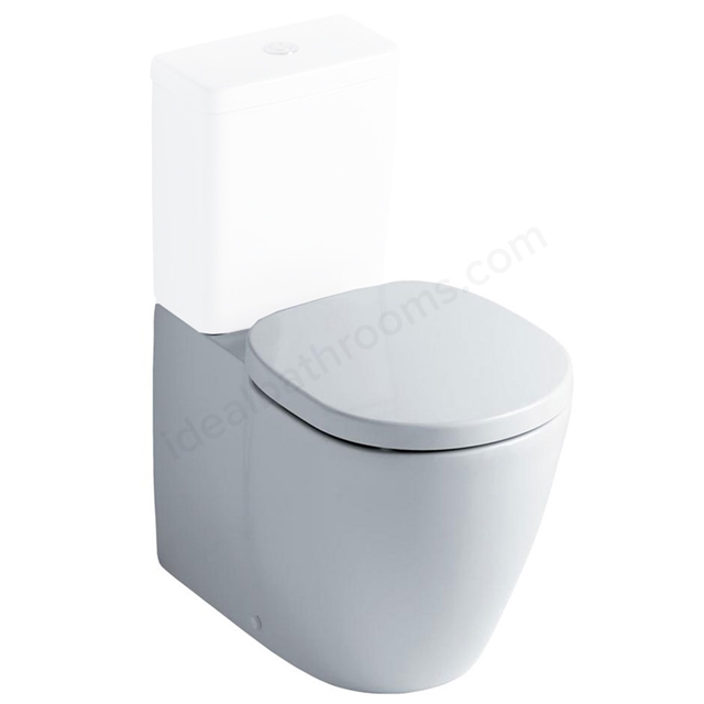 Ideal Standard CONCEPT Back to Wall Close Coupled Toilet Pan; Horizontal Outlet; White