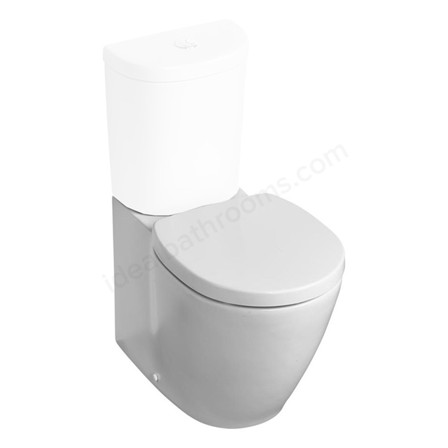 Ideal Standard CONCEPT SPACE Compact Back To Wall Close Coupled Toilet Pan; Horizontal Outlet