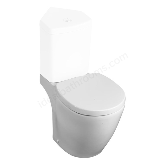 Ideal Standard CONCEPT SPACE Compact Close Coupled Toilet Pan; Horizontal Outlet