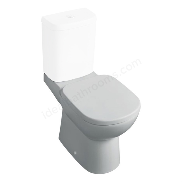 Ideal Standard TEMPO Close Coupled Toilet Pan; Horizontal Outlet; White