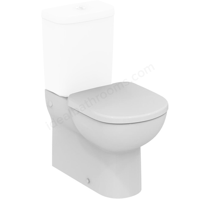 Ideal Standard TEMPO Back to Wall Close Coupled Toilet Pan; Horizontal Outlet