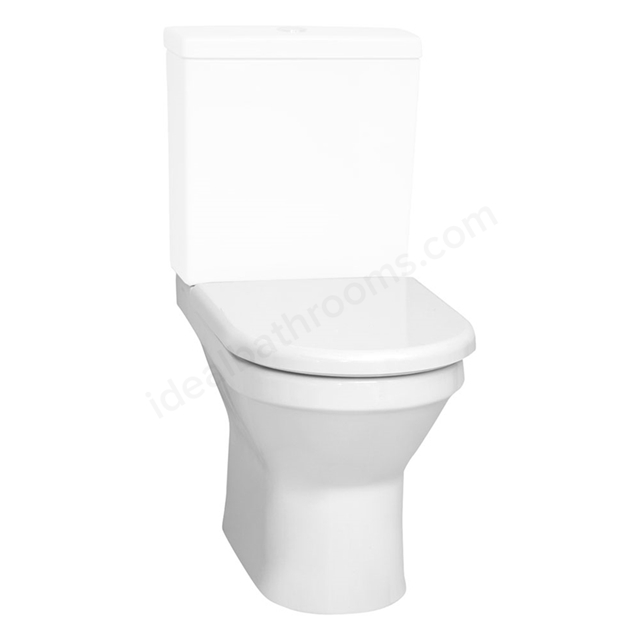 Vitra S50 Rimless Back To Wall Close Coupled Toilet Pan; White