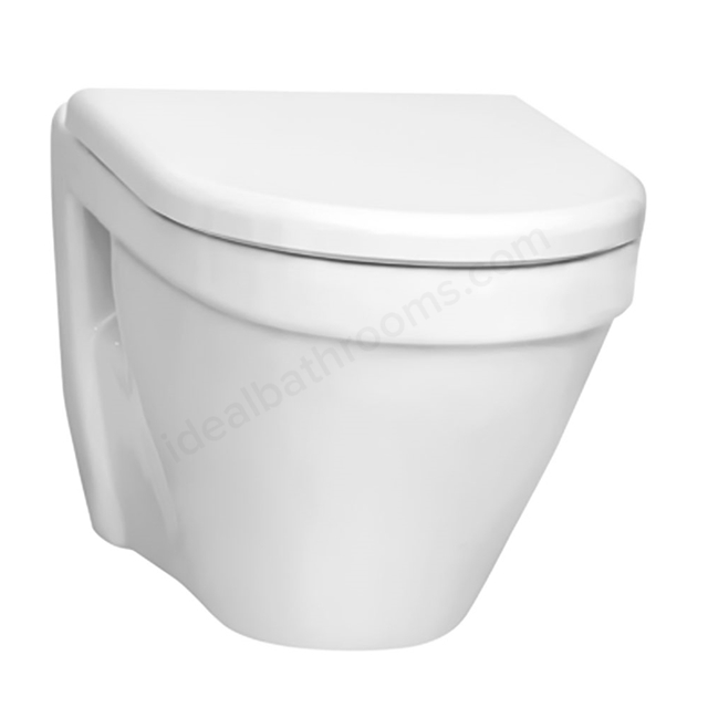 Vitra S50 Rimless Wall Hung Toilet Pan; White