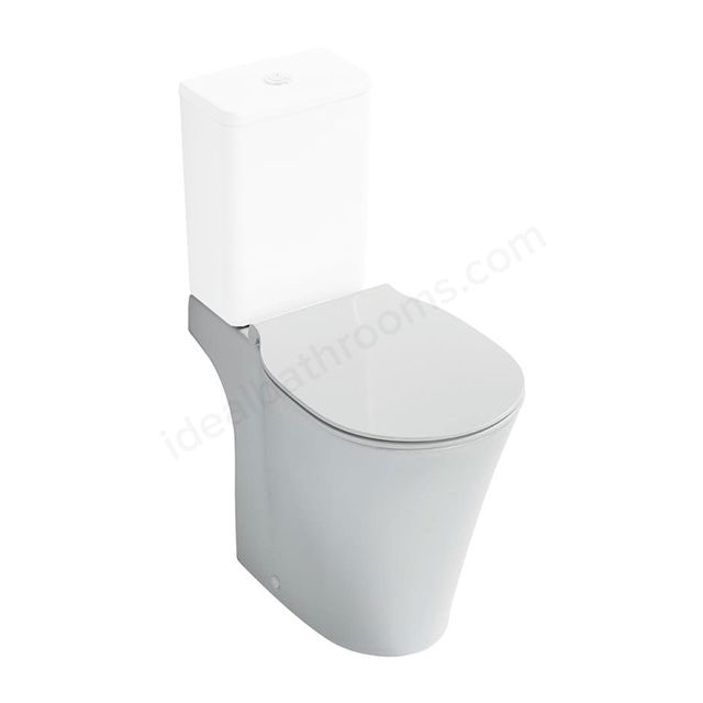 Ideal Standard CONCEPT AIR Close Coupled Toilet Pan; with Aquablade; Horizontal Outlet; White