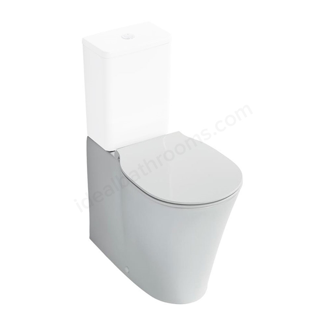 Ideal Standard CONCEPT AIR Back to Wall Close Coupled Toilet Pan, with Aquablade, Horizontal Outlet, White