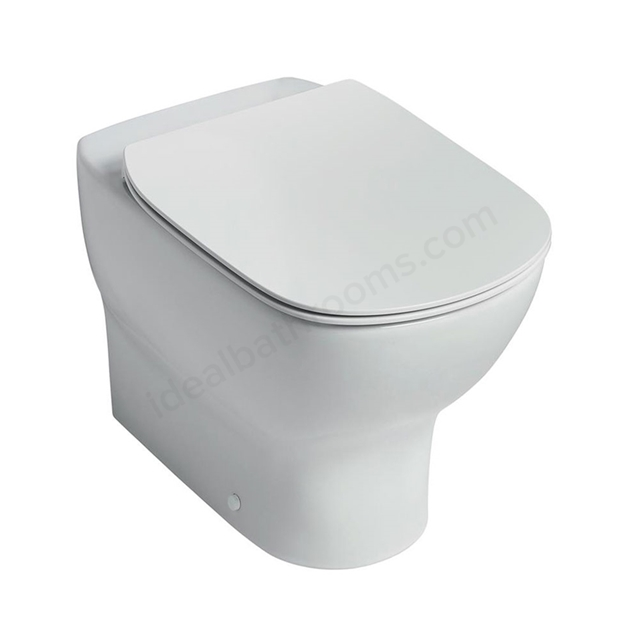 Ideal Standard TESI Back to Wall Toilet Pan; with Aquablade; Horizontal Outlet