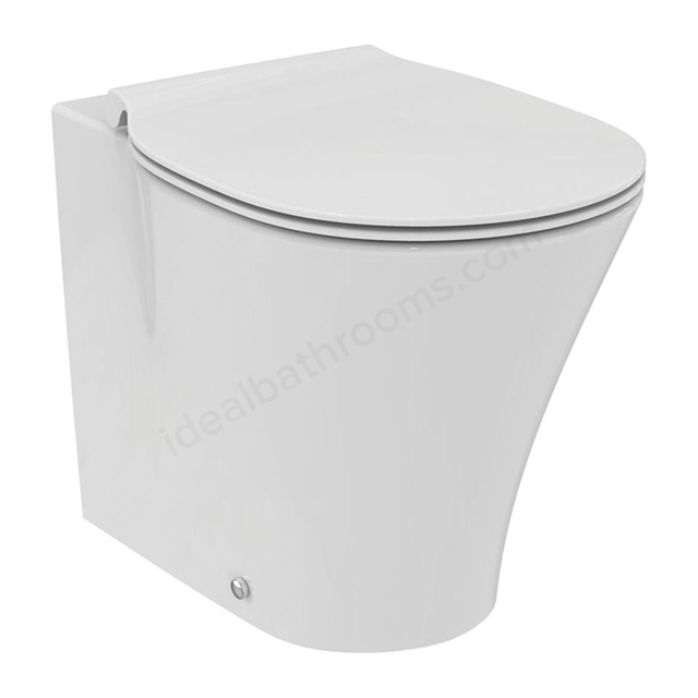 Ideal Standard CONCEPT AIR Back to Wall Toilet Pan, with Aquablade, Horizontal Outlet, White