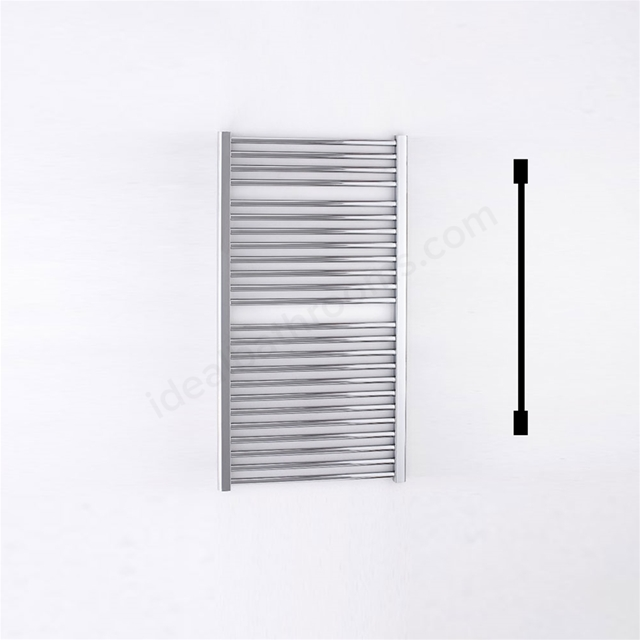 Essential STANDARD Towel Warmer; Straight Tubes; 1110mm High x 600mm Wide; Chrome