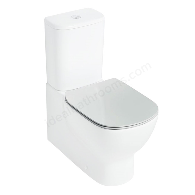 Ideal Standard TESI Thin Soft Close Toilet Seat and Cover; White