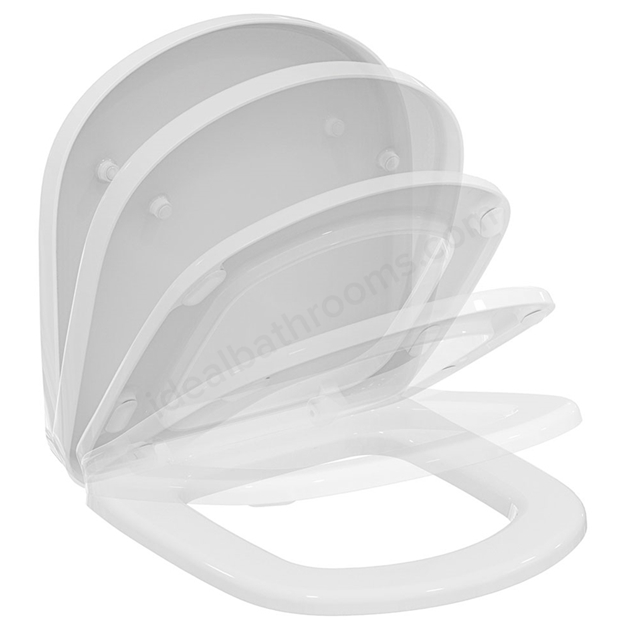 Ideal Standard TEMPO Soft Close Toilet Seat and Cover; White