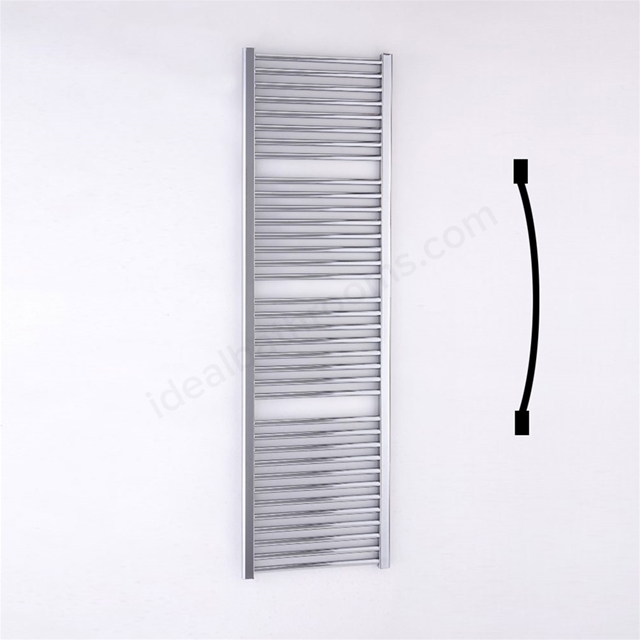 Essential STANDARD Towel Warmer; Curved Tubes; 1700mm High x 500mm Wide; Chrome