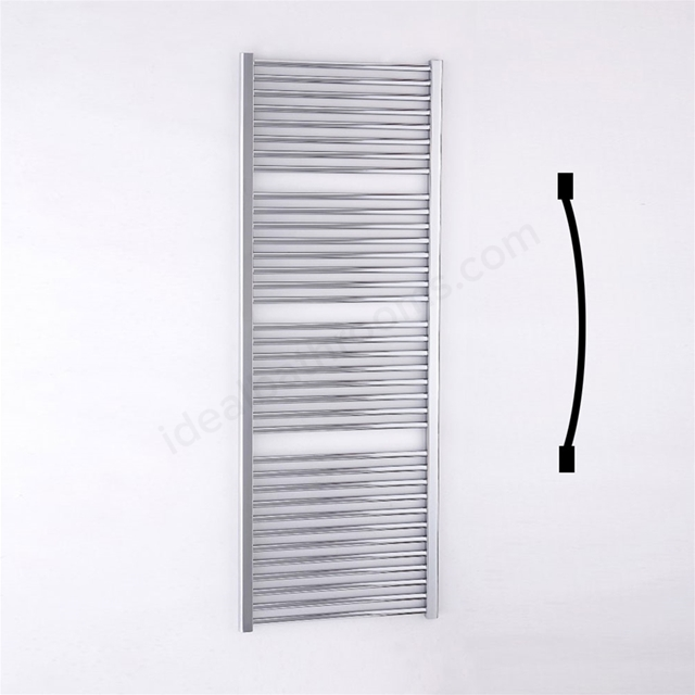 Essential STANDARD Towel Warmer; Curved Tubes; 1700mm High x 600mm Wide; Chrome