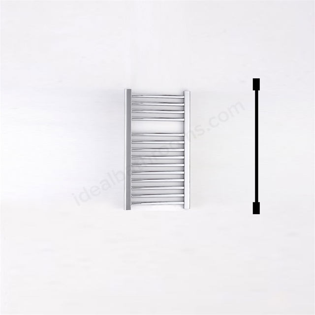 Essential STANDARD Towel Warmer; Straight Tubes; 690mm High x 450mm Wide; Chrome