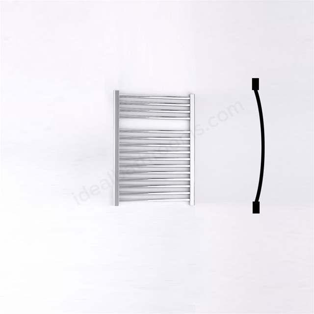 Essential STANDARD Towel Warmer; Curved Tubes; 690mm High x 500mm Wide; Chrome