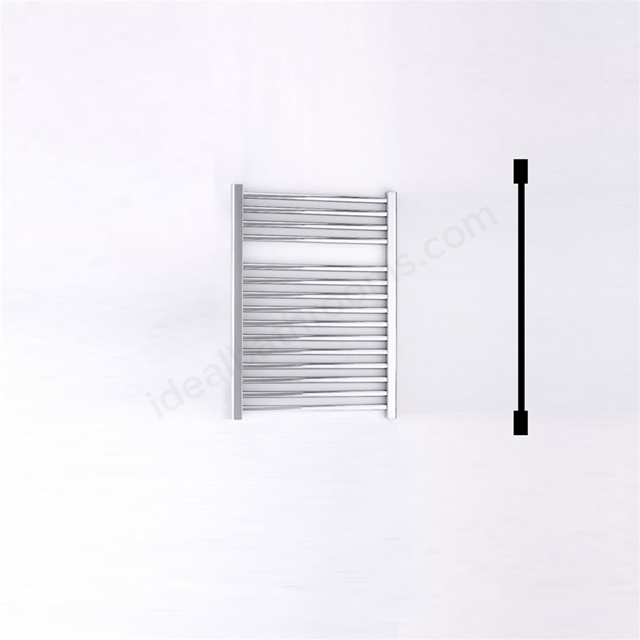 Essential STANDARD Towel Warmer; Straight Tubes; 690mm High x 500mm Wide; Chrome