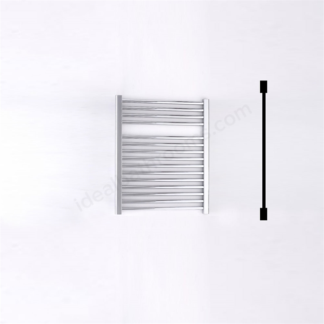 Essential STANDARD Towel Warmer; Straight Tubes; 690mm High x 600mm Wide; Chrome
