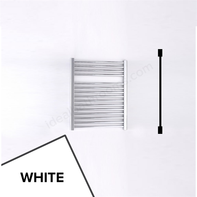 Essential STANDARD Towel Warmer; Straight Tubes; 690mm High x 600mm Wide; White