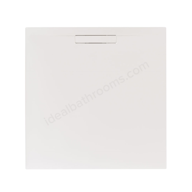 Just Trays EVOLVED Square Shower Tray; 900x900mm; Gloss White; includes Waste