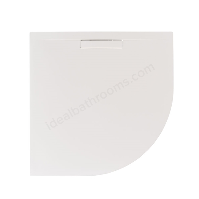 Just Trays EVOLVED Quadrant Shower Tray; 900x900mm; Gloss White; includes Waste