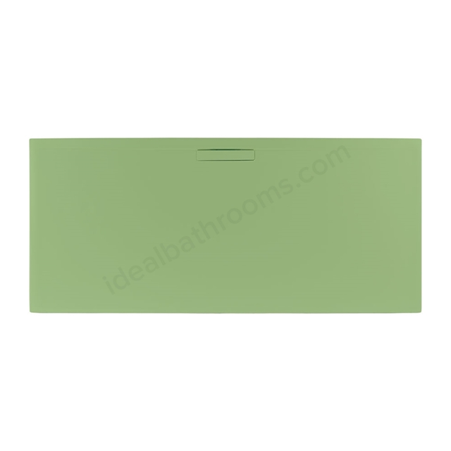 Just Trays EVOLVED Rectangular Shower Tray; 1400x800mm; Sage Green