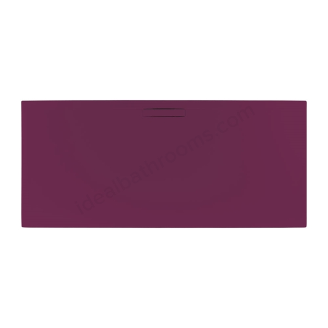 Just Trays EVOLVED Rectangular Shower Tray; Anti Slip; 1000x760mm; Malbec Red