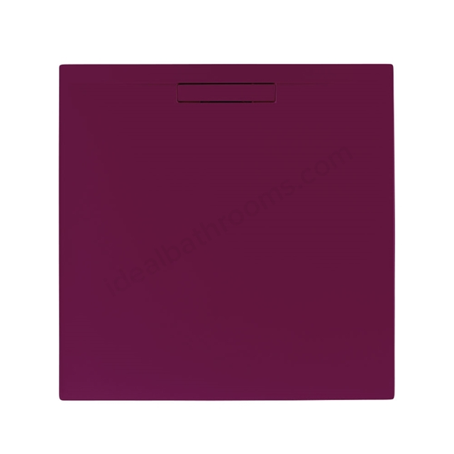 Just Trays EVOLVED Square Shower Tray; Anti Slip; 800x800mm; Malbec Red