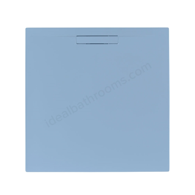 Just Trays EVOLVED Square Shower Tray; Anti Slip; 800x800mm; Pastel Blue