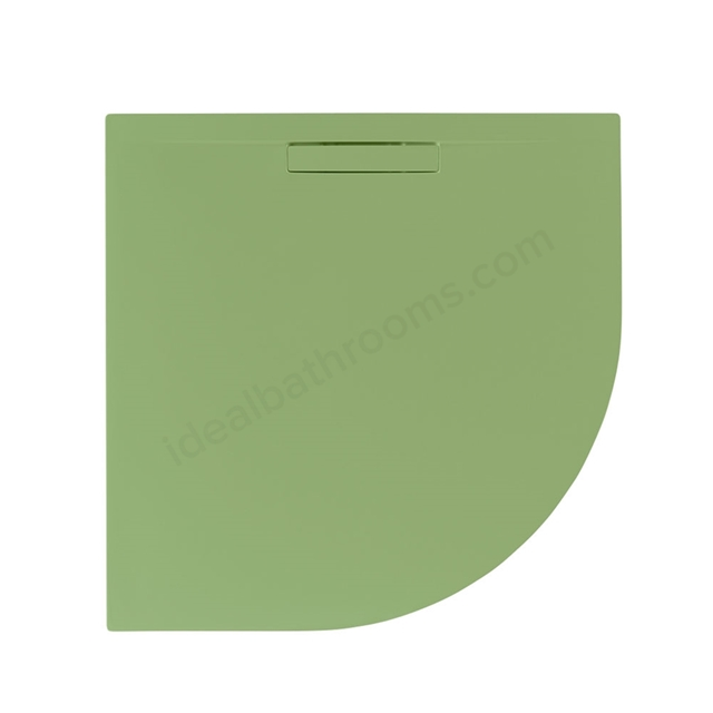 Just Trays EVOLVED Quadrant Shower Tray; Anti Slip; 800x800mm; Sage Green