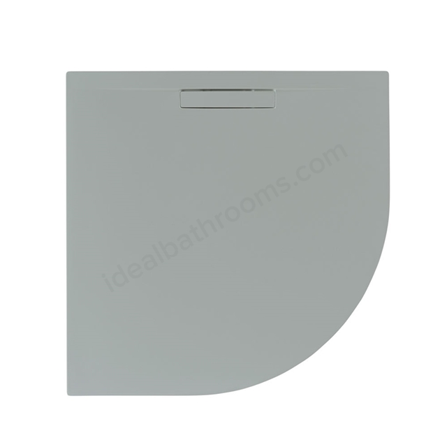 Just Trays EVOLVED Quadrant Shower Tray; Anti Slip; 800x800mm; Mistral Grey