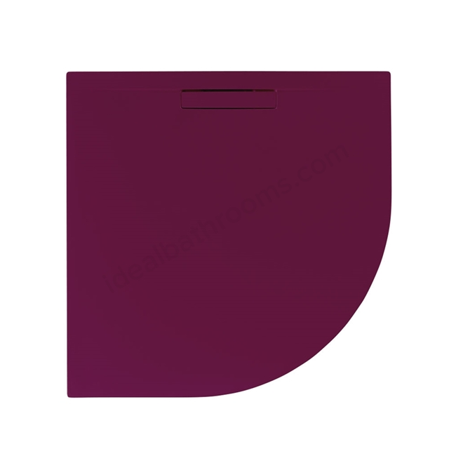 Just Trays EVOLVED Quadrant Shower Tray; Anti Slip; 800x800mm; Malbec Red