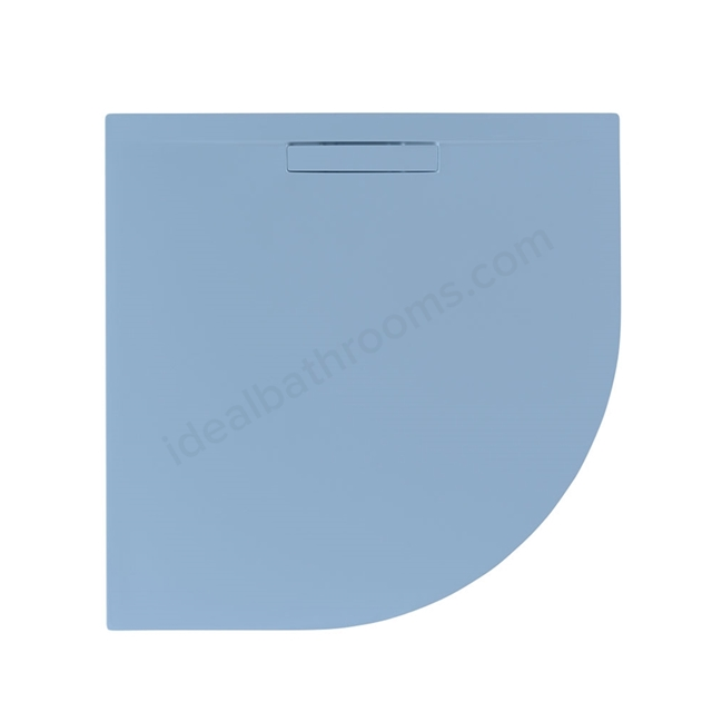Just Trays EVOLVED Quadrant Shower Tray; Anti Slip; 800x800mm; Pastel Blue