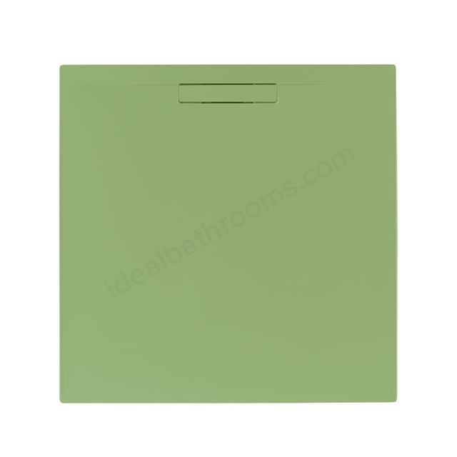 Just Trays EVOLVED Square Shower Tray; Anti Slip; 900x900mm; Sage Green