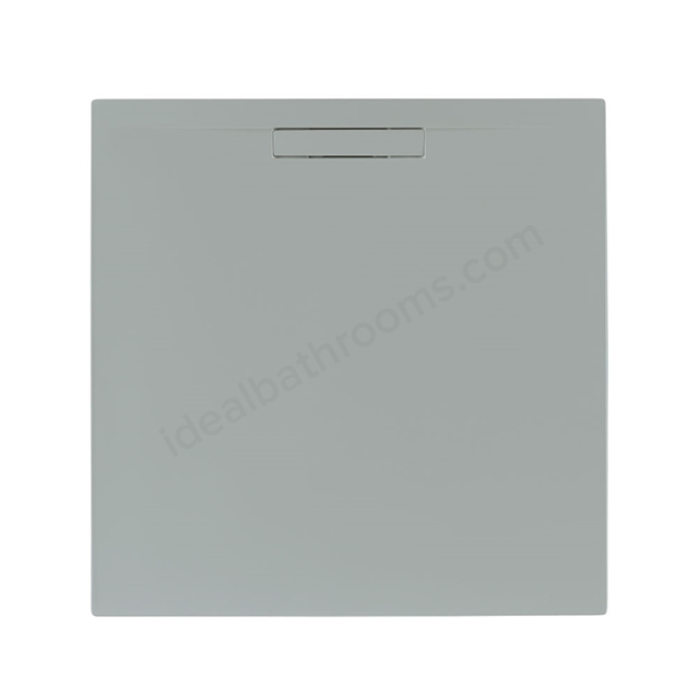 Just Trays EVOLVED Square Shower Tray; Anti Slip; 900x900mm; Mistral Grey
