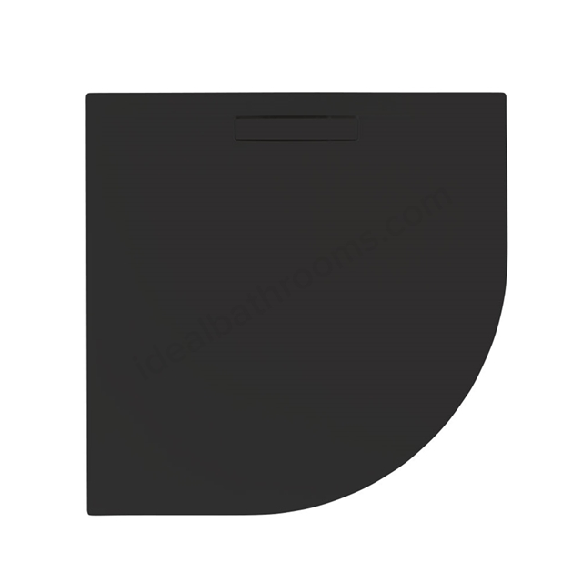 Just Trays EVOLVED Quadrant Shower Tray; Anti Slip; 900x900mm; Astro Black