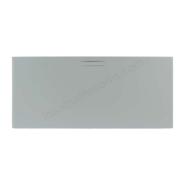Just Trays EVOLVED Rectangular Shower Tray; Anti Slip; 1000x800mm; Mistral Grey