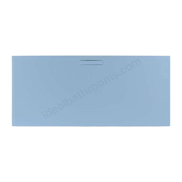 Just Trays EVOLVED Rectangular Shower Tray; Anti Slip; 1000x800mm; Pastel Blue