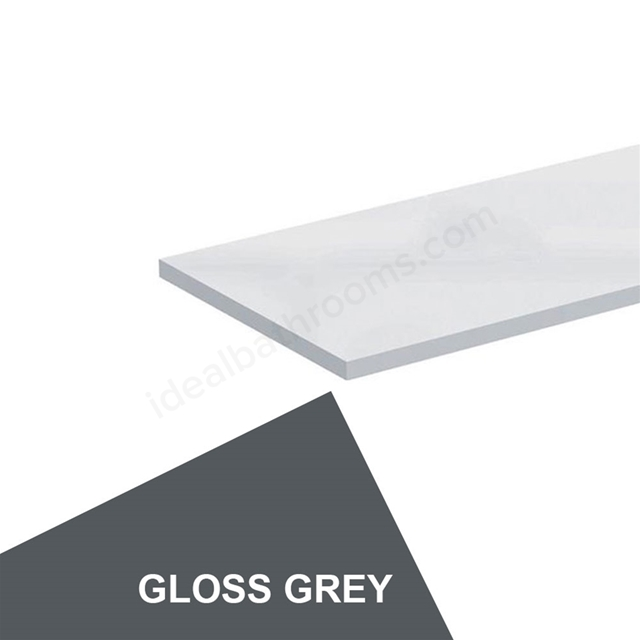 Ideal Standard CONCEPT Worktop, 1000x300mm, Gloss Grey