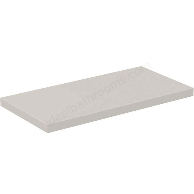 Ideal Standard CONCEPT AIR Worktop for WC Unit, 600mm Wide, Gloss White / Matt White