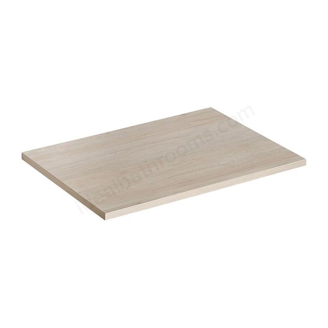 Ideal Standard CONCEPT AIR Worktop; 600mm Wide; Light Brown Wood / Matt White