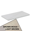 Ideal Standard CONCEPT AIR Worktop, 800mm Wide, Light Brown Wood / Matt White