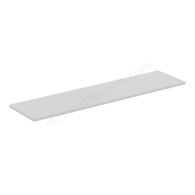 Ideal Standard CONCEPT AIR Worktop, 1200mm Wide, Gloss White / Matt White