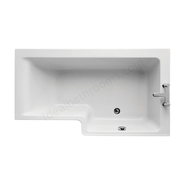 Ideal Standard CONCEPT Right Handed Square Shower Bath; Idealform Plus+; 0 Tap Holes; 1500mm; White