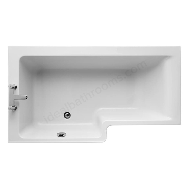 Ideal Standard CONCEPT Left Handed Square Shower Bath; 0 Tap Holes; 1500mm; White