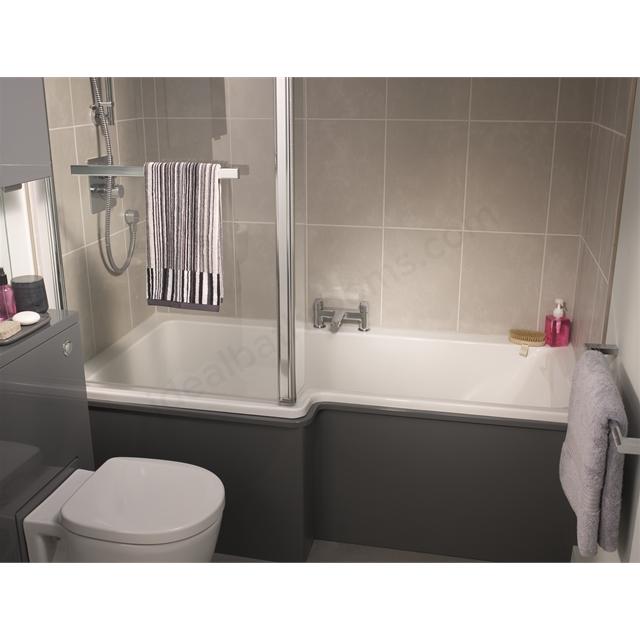 Concept Shower Bath ideal standard concept left handed square shower bath; 0 tap holes