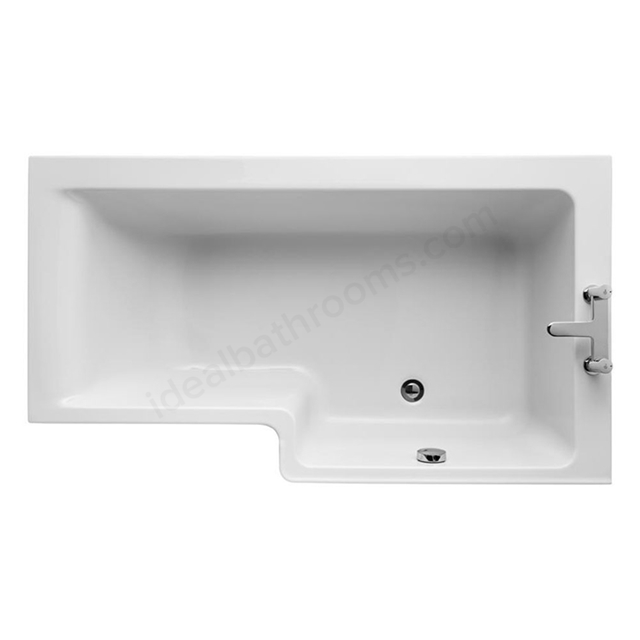 Ideal Standard CONCEPT Right Handed Square Shower Bath; 0 Tap Holes; 1500mm; White