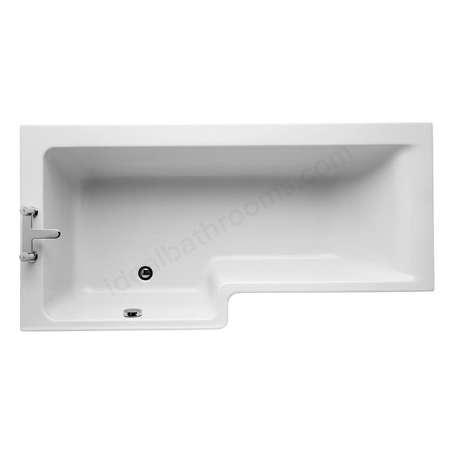 Ideal Standard CONCEPT Left Handed Square Shower Bath; 0 Tap Holes; 1700mm; White