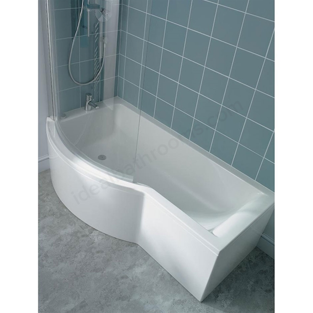 Ideal Standard CONCEPT Left Handed Shower Bath; 0 Tap Holes; 1700mm; White