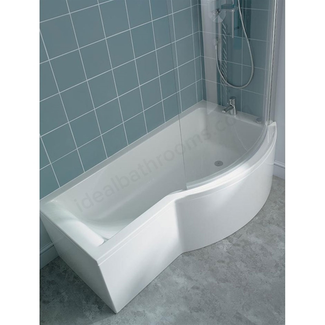 Ideal Standard CONCEPT Right Handed Shower Bath; 0 Tap Holes; 1700mm; White