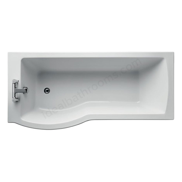 Ideal Standard TEMPO Arc Left Handed Shower Bath; Idealform Plus+; 0 Tap Hole; 1700mm; White