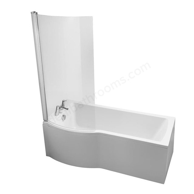 Ideal Standard TEMPO Arc Left Handed Shower Bath; 0 Tap Hole; 1700mm; White